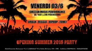 2017: Shezzan Dj Set (13/07, 20/07, 15/08, 19/08, 07/09) @ Pescara | Abruzzo | Italia